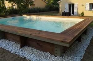 Piscine en bois hors sol rectangulaire oceanide for Superior piscine hors sol bois rectangulaire 3m 2 piscine bois 5x3m