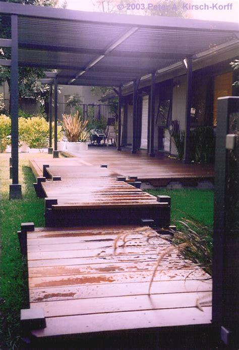 los angeles wood deck garden bridge silver lake studio city glendale montrose