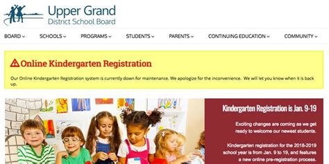 update guelph school board s registration system 469 | KindergartenReg Super Portrait
