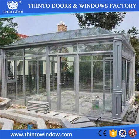 ultimo disegno in alluminio vetro prefabbricati giardino d