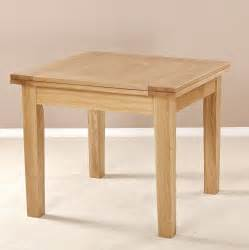 solid oak square flip top extending dining table