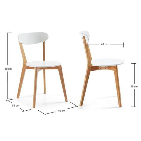 chaises bois blanc chaise bois blanc