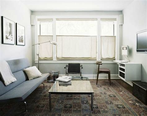 25 Modern Living Rooms With Cool, Clean Lines : 25 Ways To Make A Small Apartment Seem Bigger