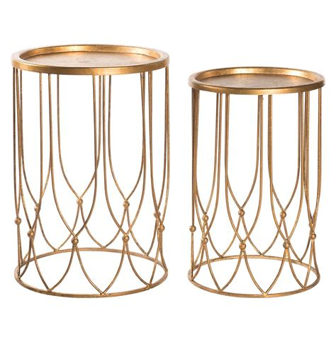 gold end table wishbone regency gold accent side table 4876