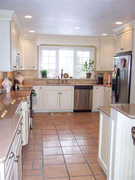 white kitchen saltillo tile google search   home