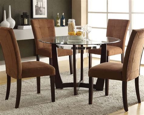 round glass breakfast table set dining set w glass round table baldwin by acme furniture