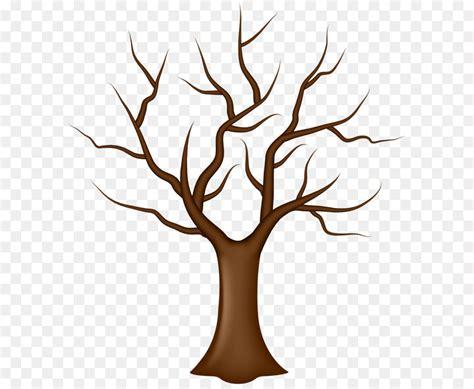 gambar batang pohon  daun kartun