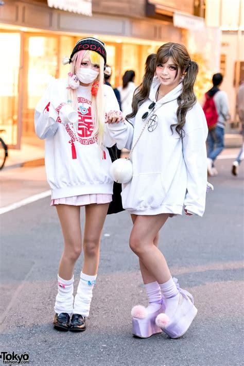 harajuku girls  twintails oversized sweatshirts loose