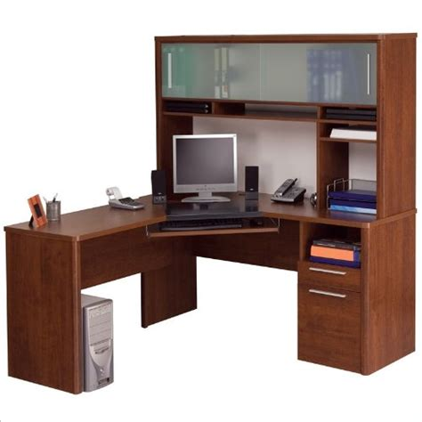 l shaped computer desk cheap cheap bestar monaco home office l shape corner wood
