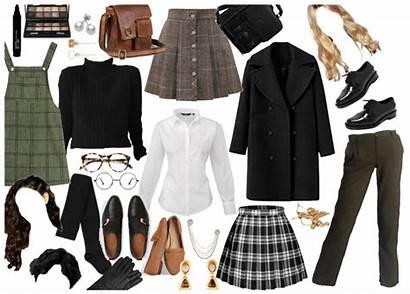 Academia Aesthetic Dark Outfit Outfits Clothes Darkacademia