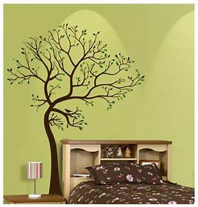 Ft large tree brown green wall decal art sticker mural