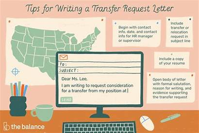 Letter Transfer Request Job Relocation Email Example