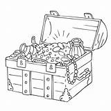 Treasure Chest Coloring Pirate Drawing Pages Colouring Getdrawings Getcoloringpages sketch template