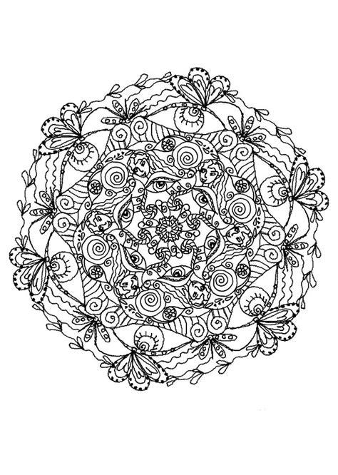 imagenes de mandalas dificiles  colorear dibujos