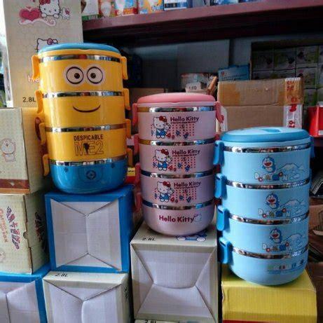 jual lunch box atau rantang karakter susun 4 di terjual