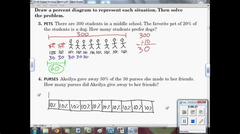 finding percents  percent diagrams  grade