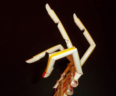 mechanical hand   fast food straws straw builder project   steps  pictures