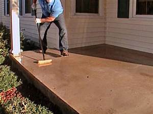 How to stamp a concrete porch floor how tos diy for How to paint wood floors diy network