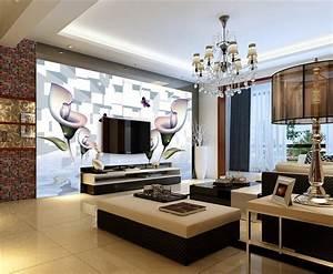 Décoration Télévision Murale : id e d coration murale tv ~ Teatrodelosmanantiales.com Idées de Décoration