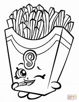 Coloring Fries Shopkin Fiona Printable Drawing Paper sketch template
