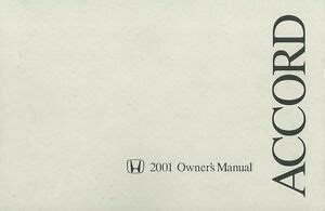 honda accord owners manual user guide reference