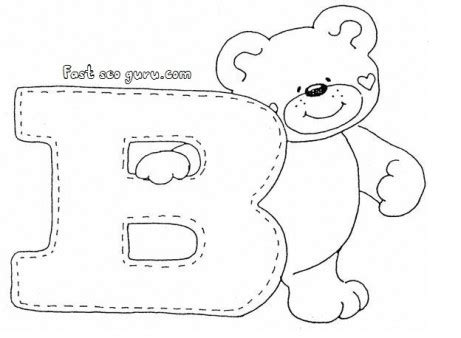 print out letter b is for coloring pages for 176 | print out letter b is for bear coloring pages for preschoolers 1009685980