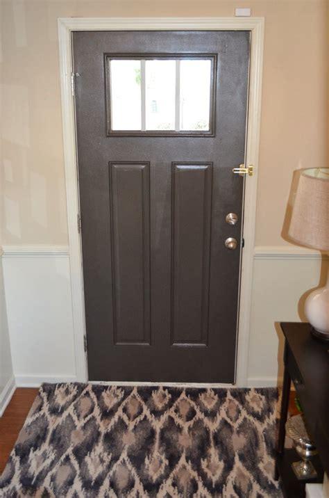 grey front door sherwin williams urbane bronze the cheerful home in 2019 grey front doors