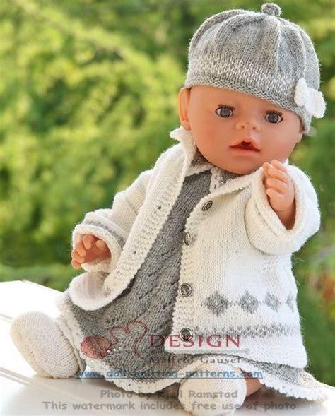 Stricken Für Baby Born  Für Puppen  Pinterest  Grau Und