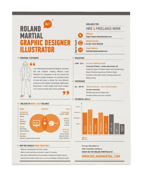 Design Your Resume by Exles Of Creative Graphic Design Resumes Infographics 2012