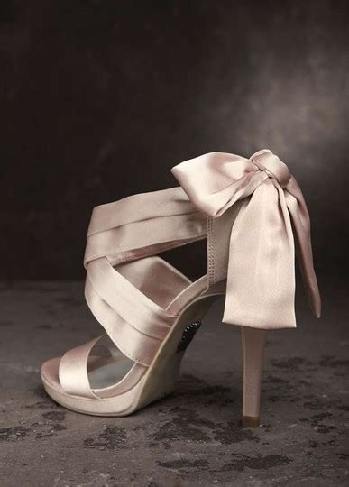 blush bow formal size   tradesy