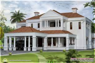 style homes plans 5900 sq ft colonial style villa exterior elevation