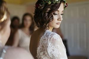 Couronne Fleur Cheveux Mariage : coiffures de mariage pour cheveux courts ~ Melissatoandfro.com Idées de Décoration