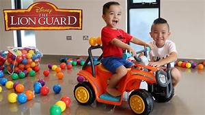 Disney U0026 39 S Lion Guard Ride On Car Toys Unboxing Learn Colors