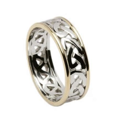 celtic open knot wedding band  trims