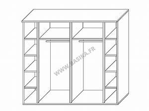 Armoire 2 portes coulissantes ancona laque blanc grisl 240 for Meuble de cuisine blanc laque 15 acheter votre armoire portes coulissantes panneaux miroirs