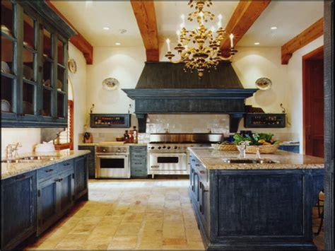 Cream Colored Kitchen Cabinets, Antique Blue Kitchen