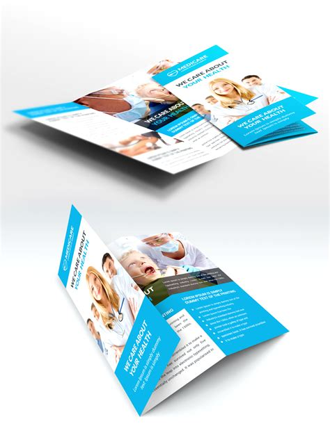 healthcare brochure templates free download medical care and hospital trifold brochure template free