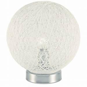 Lampe Boule à Poser : baya lampe poser boule rotin diam tre 20cm hauteur ~ Dailycaller-alerts.com Idées de Décoration