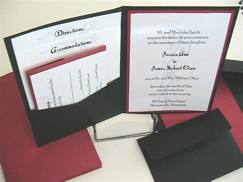 wedding invitations 1 pocket wedding invitations pocket wedding invitations