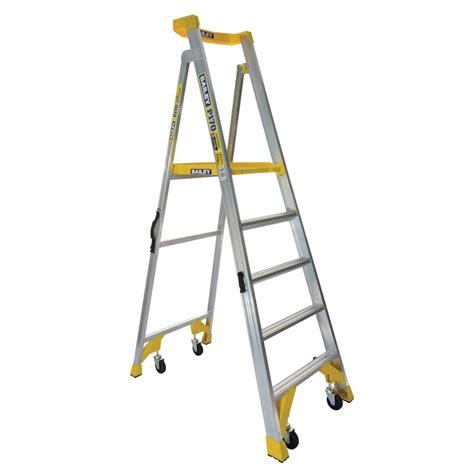 aluminium ladder bunnings bailey 170kg 5 aluminium station platform ladder