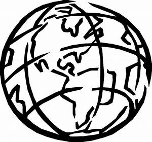 Earth Just Outlines Correction Clip Art at Clker.com ...