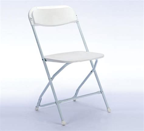 folding samsonite white chair standard rentals