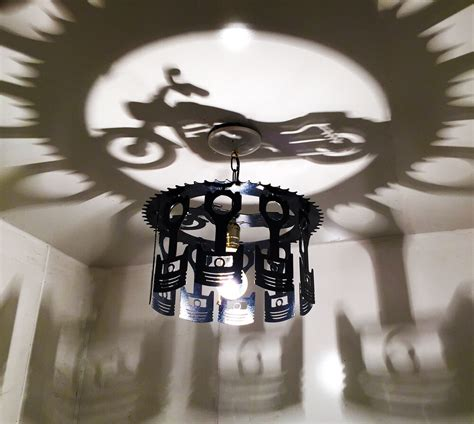 unique motorcycle piston shadow light    usa
