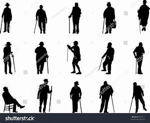 Old Man Silhouettes Stock Vector 5332711 - Shutterstock