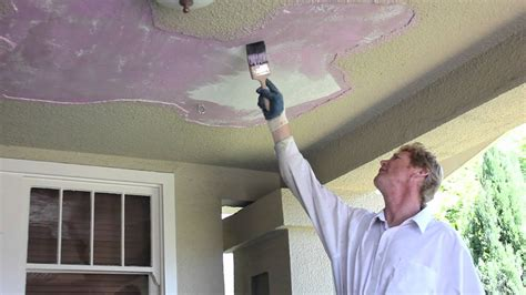 remove  fix loose plaster  porch ceiling youtube