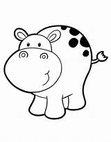 Hippo Coloring Pages Hippopotamus Printable Clipart Drawing Cartoon Cat Hippos Colouring Clip Template Library Animals Animal Drawings Kid Cliparts Hmcoloringpages sketch template