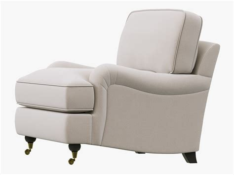 restoration hardware roll arm upholstered chair 3d