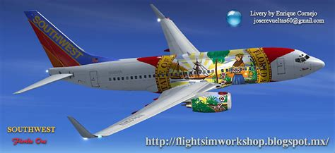 Flo Rida One southwest boeing 737 700 quot florida one quot for fsx