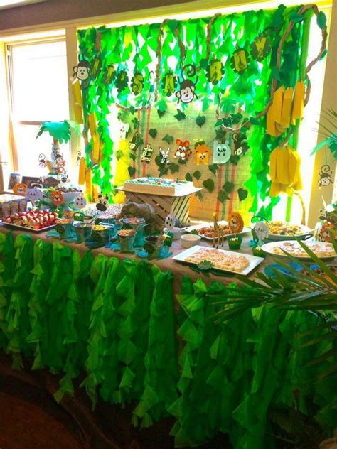 jungle baby shower party ideas baby shower baby shower