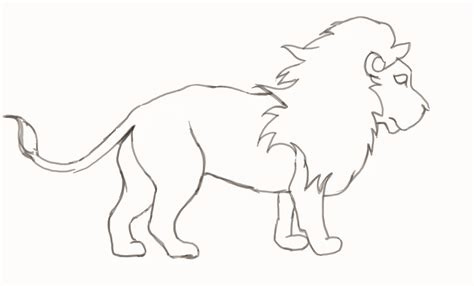 draw  lion step  step